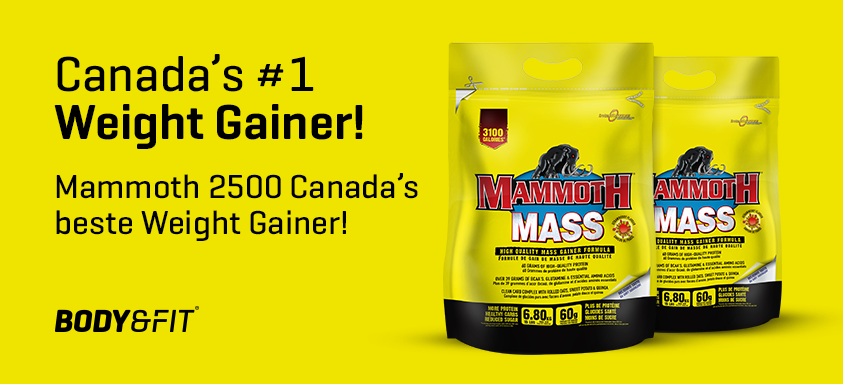 De nieuwe Mammoth 2500 weight gainer