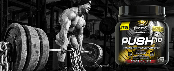 Push10 pre workout van muscletech